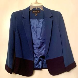 NEW Forever 21 Two Tone Blazer M